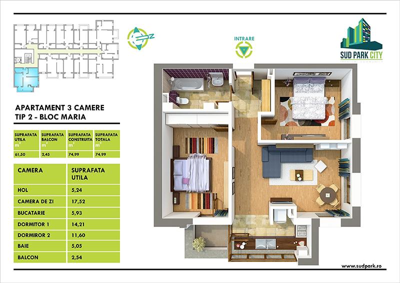 apartamente 3 camere berceni bucuresti